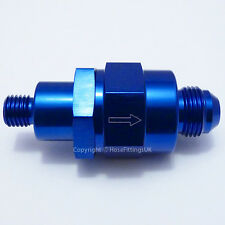 AN-6 to M12x1.5 BLUE ONE WAY NON-RETURN CHECK VALVE Bosch 044 Fuel Pump EFI