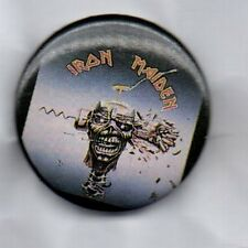 IRON MAIDEN  BUTTON BADGE  - HEAVY METAL ROCK BAND -THE NUMBER OF THE BEAST 32mm