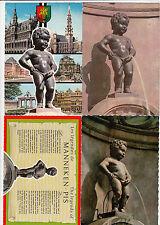 Lot 4 cartes postales anciennes BELGIQUE BRUXELLES manneken-pis