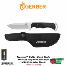 Gerber Freeman Guide Fixed Blade Knife, DP, Fine Edge, Nylon Sheath #31-000588
