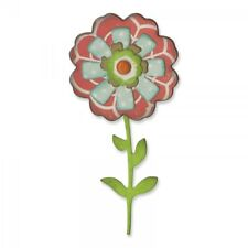NEW - Sizzix Thinlits Die Set 6PK - Flower Layers & Stem