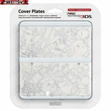 #39 White Smash Bros Pattern Cover Plate New Nintendo 3DS Official Item Japan