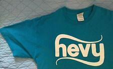 HEVY MUSIC FESTIVAL 2010 - BLUE GRAPHIC T-SHIRT USED