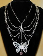 HIPPIE BOHO STEAM PUNK GOTHIC BUTTERFLY GYPSY TRIBAL Renaissance Fairy Necklace