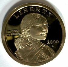 2000 -S SACAGAWEA Golden Dollar Native American PROOF Coin US Mint First Issue