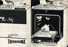PUBLICITE ADVERTISING  1965   THERMOR   cuisinière  (2 pages)
