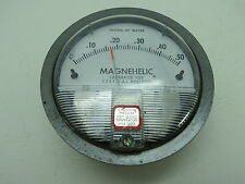 MAGNEHELIC GAUGE WATER 4+3/4 INCH METER GUAGE STEAM PUNK (#1916)