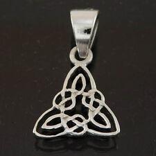 Stylish Sterling Silver 925 Tiny Celtic Trinity Knot Pendant Necklace