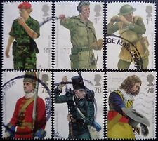 GB 2007 Military Uniforms (1st Series) British Army Uniforms Used Off Paper Set