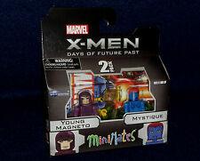 Marvel MiniMates Series 58 X-Men Days Future Past MAGNETO & MYSTIQUE Figure 2 PK