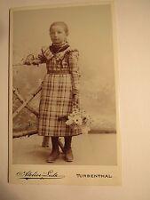 Turbenthal - Frau Burgi / Bürgi als Mädchen - Kulisse - Portrait / CDV
