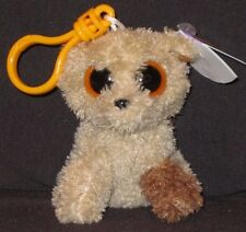 TY BEANIE BOOS - ROOTBEER the DOG KEY CLIP - MINT with MINT TAG