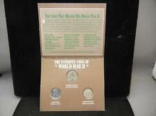 Wwii Coin Set. 1943 Silver Nickel, 1943 Steel cent, 1944-S Mercury Di. Lot 36