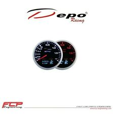 DEPO RACING 4in1 LADEDRUCK/ÖLDRUCK/ÖLTEMPERATUR/BATERIE ANZEIGE BOOST GAUGE 60mm