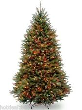 7.5' Foot Fir Prelit Multi Color Lights Artificial Christmas Tree w Stand Green