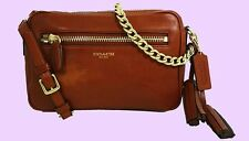 Authentic COACH 25362 LEGACY Cognac Leather Cross-Body Bag Msrp $228.00