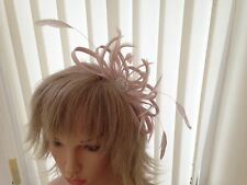 PALE BLUSH NUDE PINK SINAMAY   FASCINATOR,ASCOT,ACCESSORIES, CAN BE CUSTOM MADE