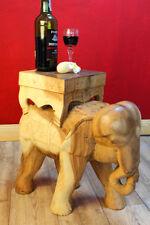 Beistelltisch Akazie Elefant geschnitzt Blumenständer Podest Holz massiv Tisch