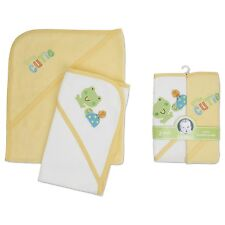 Gerber Hooded Towels Cutie Frogs 2-Count, Yellow