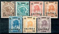 Italienisch-Eritrea 1922 Freimarken Sassone N° 54-60 ungebraucht MH