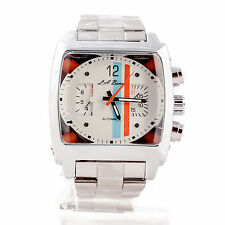MENS LA BANUS AUTOMATIC WATCH STAINLESS STEEL MONACO TW CHRONOGRAPH NEW SILVER
