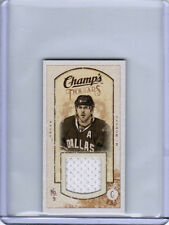 09/10 UD CHAMPS MIKE MODANO MT-MM MINI THREADS GAME-USED JERSEY DALLAS STARS