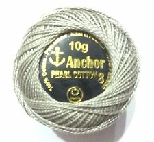 1 x Solid ANCHOR Cotton Crochet Ball Size No 8 knitting thread SILVER GREY