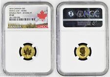2014 Canada Maple Chinese Lunar Horse Double Privy Gold 1/10oz NGC PF69  RARE
