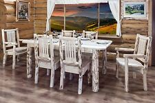 Rustic Kitchen Table Chairs Set LOG Cabin Table SIX Chairs set Amish Handmade