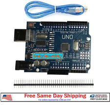 NEW UNO R3 ATMEGA328P CH340 USB Development Board for Arduino + USB Cable