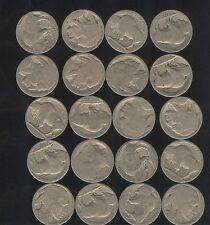 20 CT Lot of Buffalo Nickel   ~ NO Dates ~  Old Collectibles Bulk Price