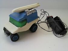 1970 Remco Dune Buggy Wheelies Battery Operated Vehicle Blue White Surfboard