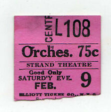 1920s STRAND THEATRE New York City TICKET STUB Movies THEATER Movie BROADWAY NYC