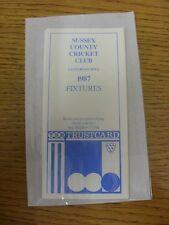 1987 lista de iluminación: condado de Sussex Cricket Club-desplegable tarjeta emitida por TSB Trus