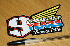 Nicky Hayden 9 Years Sticker