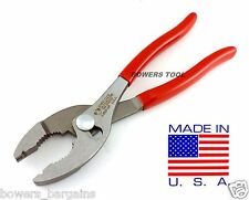 "Wilde Tool 8"" Slip Joint Hose Clamp Pliers MADE IN USA Notch Plier Corbin Style"