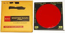 Kodak Wratten 25 Red 4 inch (100 mm) Gelatin Filter EX in Calumet Frame