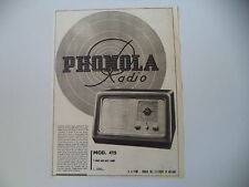 advertising Pubblicità 1941 RADIO PHONOLA MOD. 415
