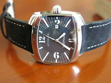 "Leonard Rectangular ""TV Screen"" Men's Automatic Stainless Steel Watch - RARE!"