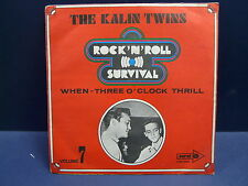 THE KALIN TWINS When / three o'clock thrill CORAL COP 2981