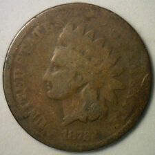 1872 Indian Head Coin Copper Penny Small One Cent GOOD 1c US Type Coin Key Date