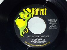 Tom Jones: Keep a-Talkin' 'Bout Love/ Somethin' 'Bout You Baby.. [Unplayed Copy]