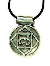 BUTW Muladhara Root  Base 1st Chakra  Amulet Pewter Pendant Necklace 9778B