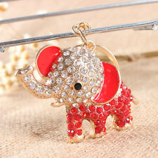 Lovely Elephant New Charm Pendant Rhinestone Crystal Car Key Ring Keychain Gift