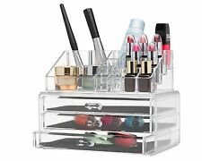 Clear acrylic makeup organizer cosmetic organizer and Large 3 Drawer