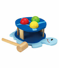 New Wooden Pound a Ball Baby / Toddler toy - 3 balls, Hammer - Buzzing Brains