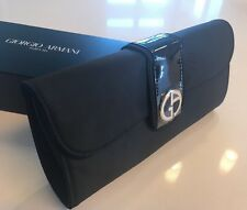 Giorgio Armani Parfums Luxury Clutch Evening Hand Bag Black Pouch Purse Boxed