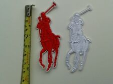 2 x Ralph Lauren Polo  Embroidered logo Sew/Iron-on Patch. NEW3 cm x 8 cm