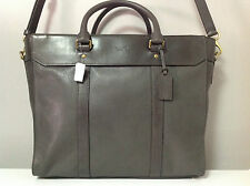 Coach Crosby Leather Business Tote Messenger Crossbody Bag in Slate Gray F70715