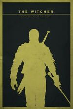 POSTER THE WITCHER 2 3 WILD HUNT WOLF LUPO GERALT OF RIVIA VIDEOGAME FANTASY PS4